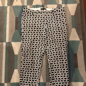 Banana Republic Sloan black & white skinny pants 8